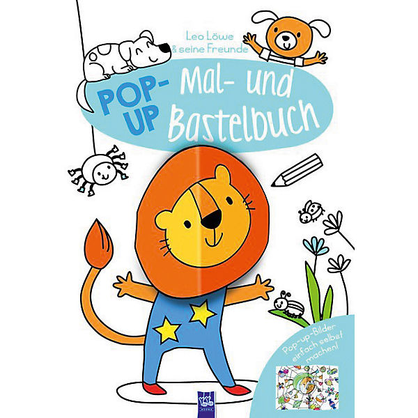 Pop-Up Mal- und Bastelbuch - Löwe