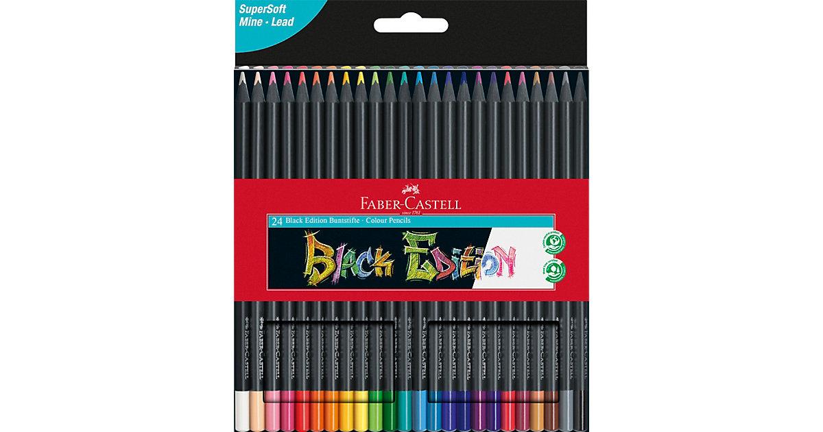 Buntstifte Black Edition, 24 Farben