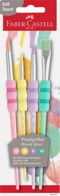 Marabu Pinselmappe bestückt Borstenpinsel Haarpinsel Schulpinsel Mischpalette