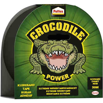 Pattex Crocodile Power-Klebeband schwarz, 30 m