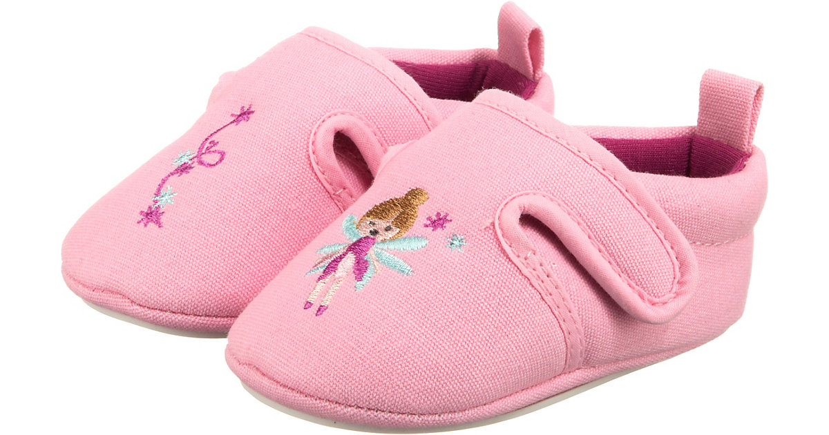 Krabbelschuh aus Canvas mit Klettverschluss  rosa Gr. 16 Mädchen Baby