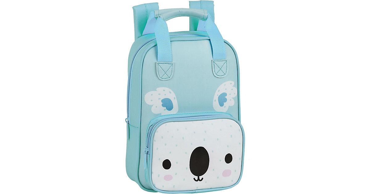 EXKLUSIV Kinderrucksack mit Griffen Koala blau