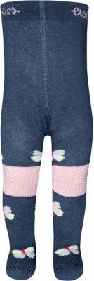 Maximo Baby Krabbel-Strumpfhosen mit Stopper an Knien und Fußsohlen ABS  Gr.74