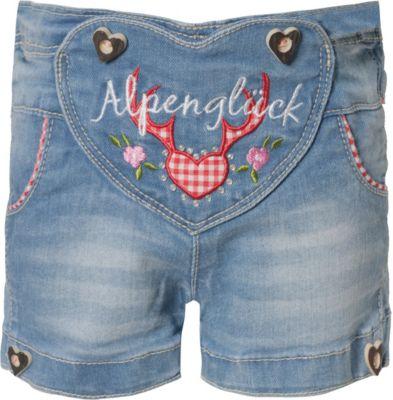 BONDI Trachten Hose Jeans Alpenglück Mädchen Trachtenhose Neu 62 68 74 80 86 98