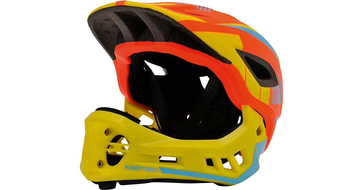 Fahrradhelm 2-in-1 mit abnehmbarem Kinnschutz, Orange/Gelb (M: 53-58cm) orange/gelb