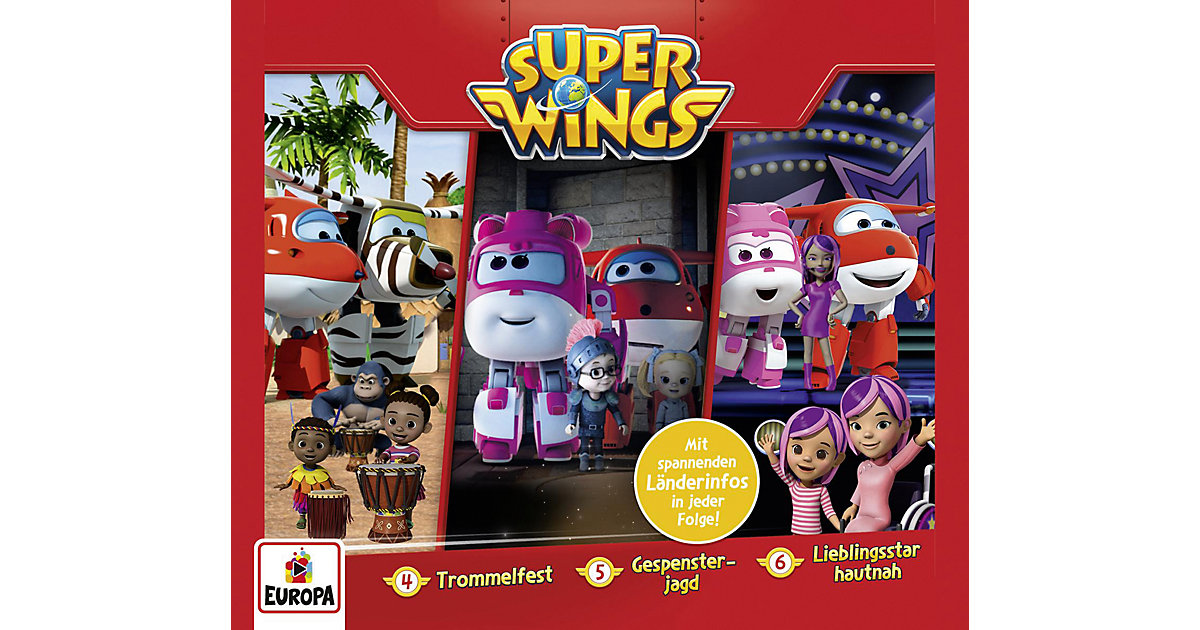 CD Super Wings Box 2 (Folgen 4,5,6) Hörbuch