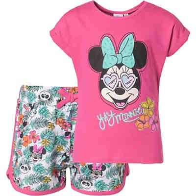 Disney Minnie Mouse Kinder Set T-Shirt + Shorts für Mädchen