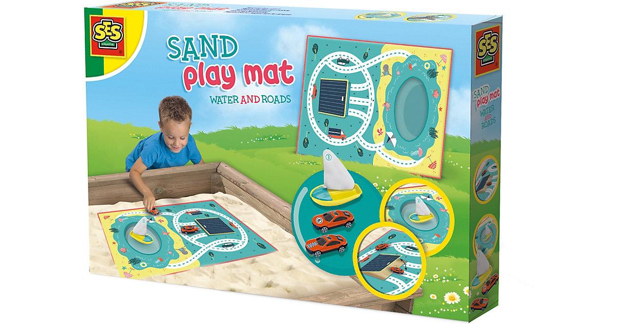 Sandspielmatte - Wasser und Straßen