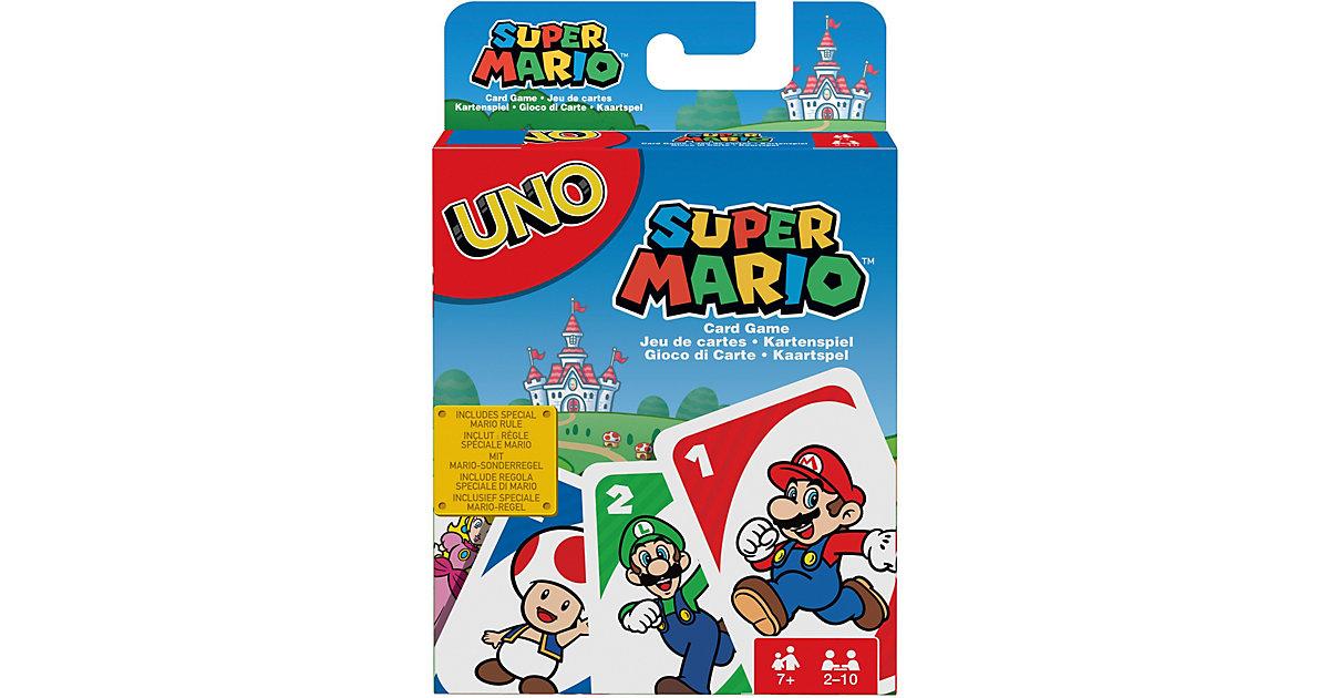 Mattel Games UNO Super Mario, Kartenspiel, Gesellschaftsspiel, Familienspiel