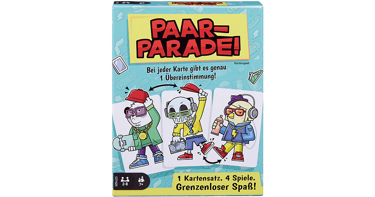 Mattel Games Paar-Parade, Kartenspiel, Gesellschaftsspiel, Familienspiel