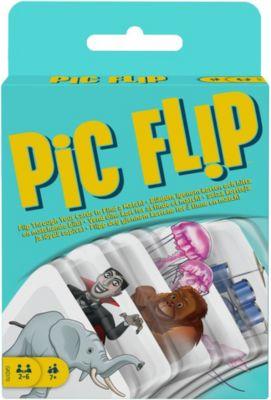 Mattel Games Pic Flip, Kartenspiel, Gesellschaftsspiel, Familienspiel