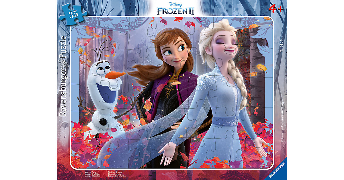 Rahmen-Puzzle Disney Frozen - Magische Natur, 30-48 Teile