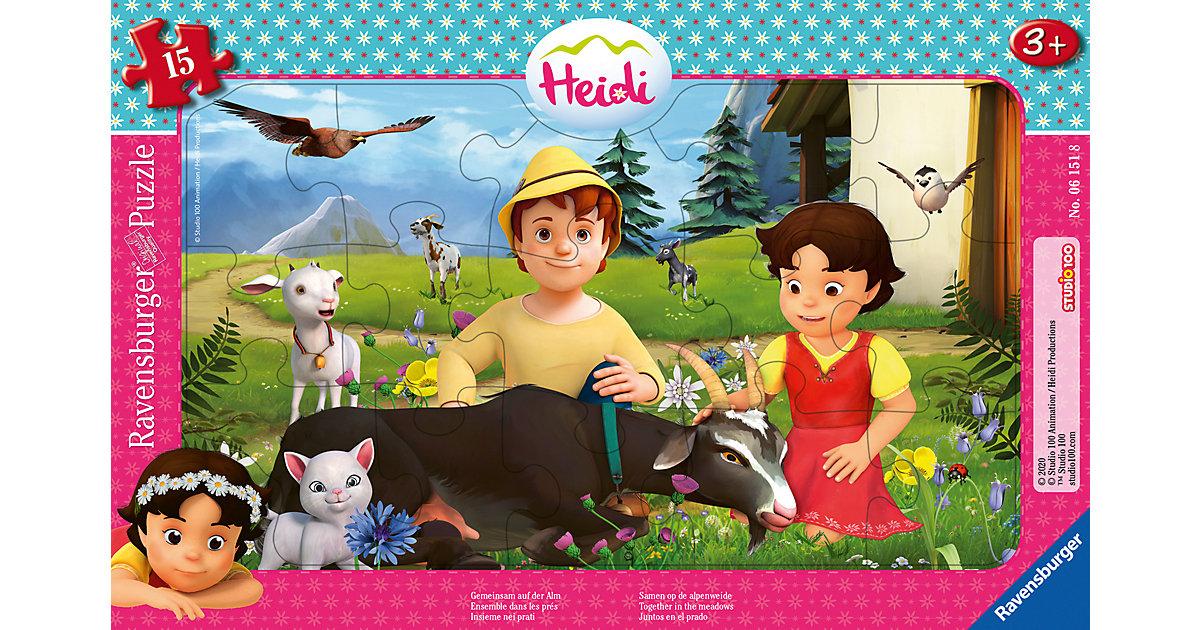 Rahmenpuzzle Heidi - Gemeinsam auf der Alm, 15 Teile