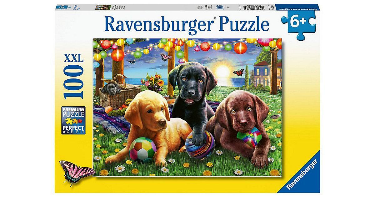 XXL-Puzzle Hunde Picknick, 100 Teile
