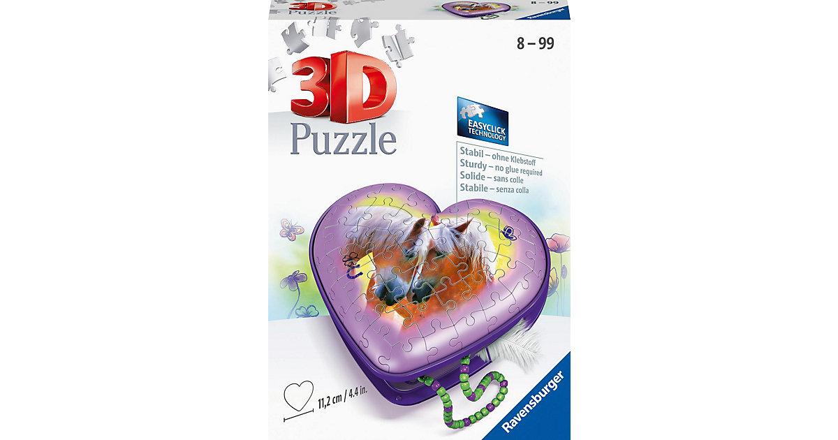 3D-Puzzle Herzschatulle Pferde, 54 Teile