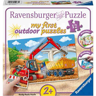 my first outdoor puzzles - Meine Baustelle, 12 Teile