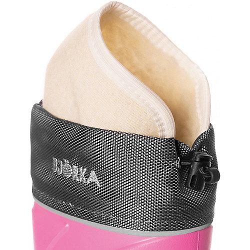 Резиновые сапоги со съемным носком BJÖRKA - розовый от BJÖRKA