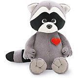 Мягкая игрушка Orange Life Енотик Дэнни: Влюбленное сердце, 20 см