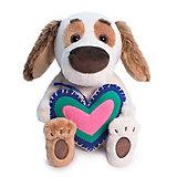 Мягкая игрушка Budi Basa Собака Бартоломей  baby с сердечком из флиса, 20 см