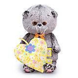 Мягкая игрушка Budi Basa Кот Басик baby с желтым сердечком, 20 см