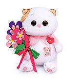 Мягкая игрушка Budi Basa Кошечка Ли-Ли baby с цветами из фетра, 20 см