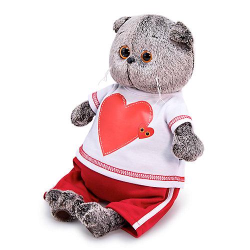 Мягкая игрушка Budi Basa Кот Басик в футболке с сердцем, 25 см от Budi Basa