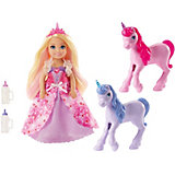 Кукла Barbie Челси с маленькими единорожками