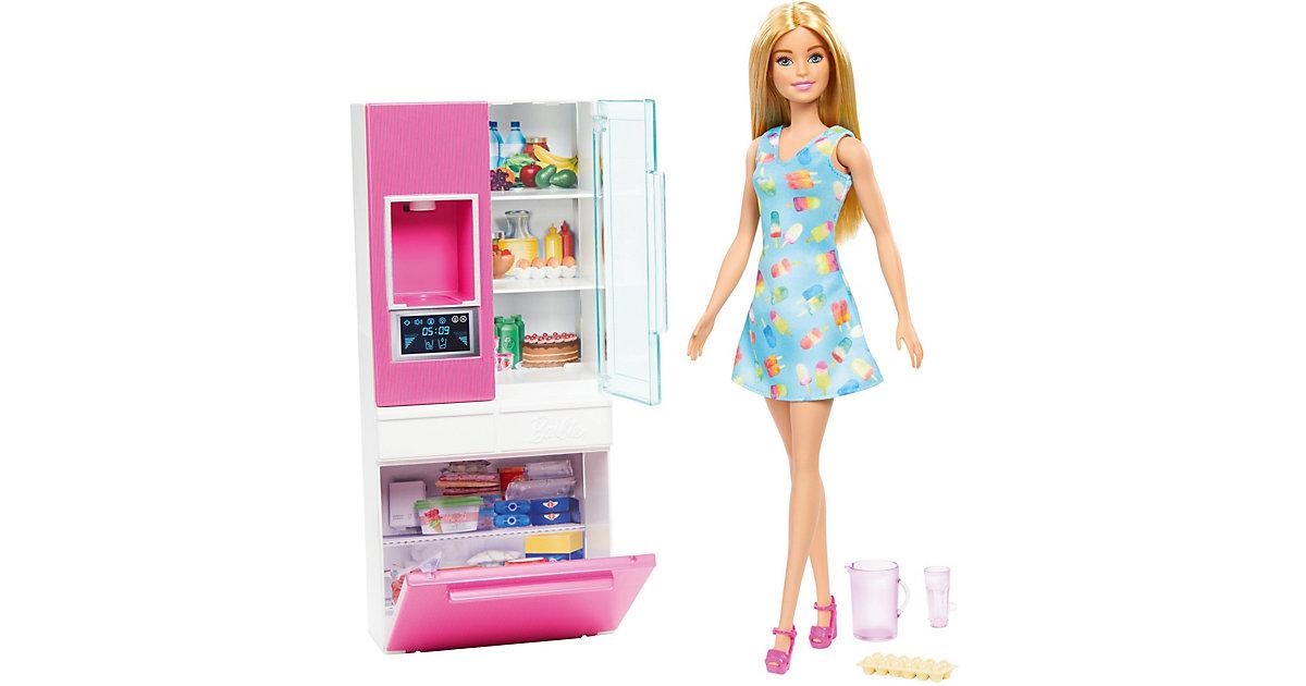 Barbie Deluxe-Set Möbel Kühlschrank & Puppe (blond)