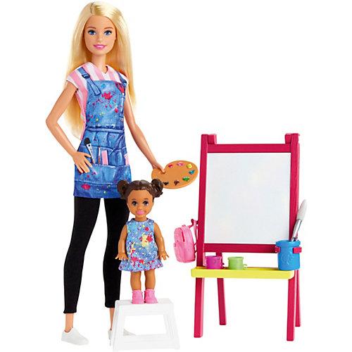 Кукла Barbie из серии «Кем быть?» Учительница рисования Блондинка от Mattel