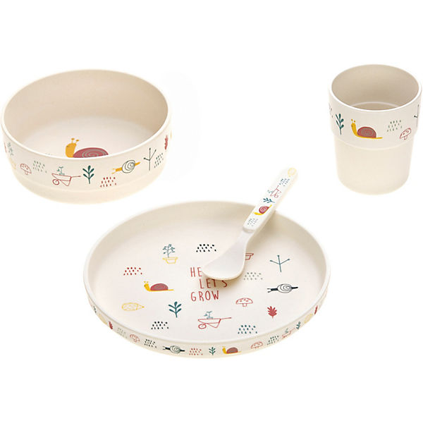 Kindergeschirrset, Dish Set, Garden Explorer girls, 4-tlg.