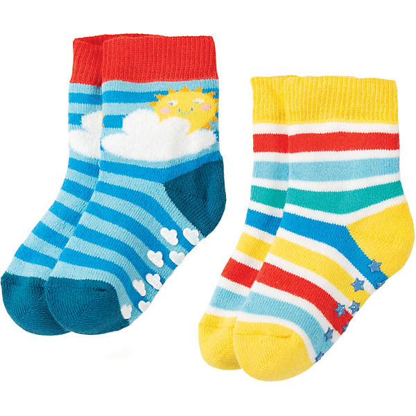 Kinder Socken GRIPPY, Doppelpack, Organic Cotton