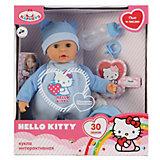 "Интерактивный пупс ""Hello Kitty"", 35см, в голубом"