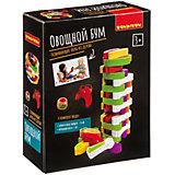 """Развивающая игра-баланс Bondibon """"Овощной бум"""", башня из овощей"""