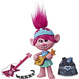 Кукла Trolls World Tour Поющая Розочка, 33 см