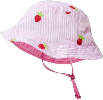 *Maximo* Sommerhut Mütze Sonnenschutz Mädchen Erdbeeren Apfel grün rosa rot neu