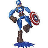 Игровая фигурка Marvel Avengers Bend and Flex Капитан Америка, 15 см