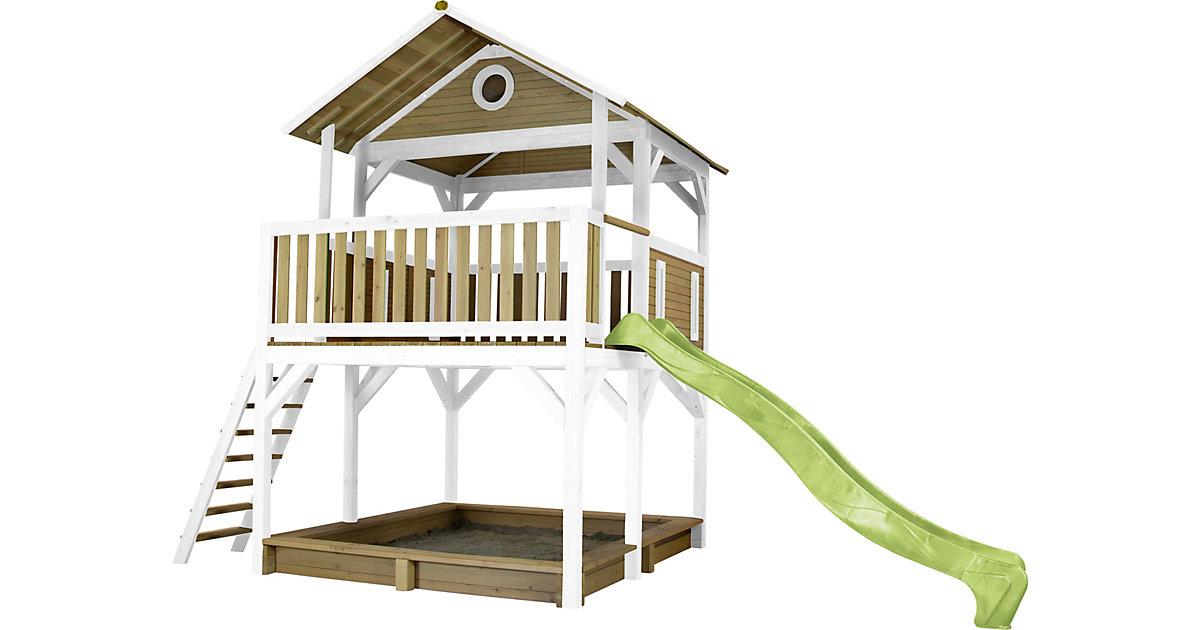 Simba Spielturm Braun/Weiß - Lindgrüner Schlitten braun/grün