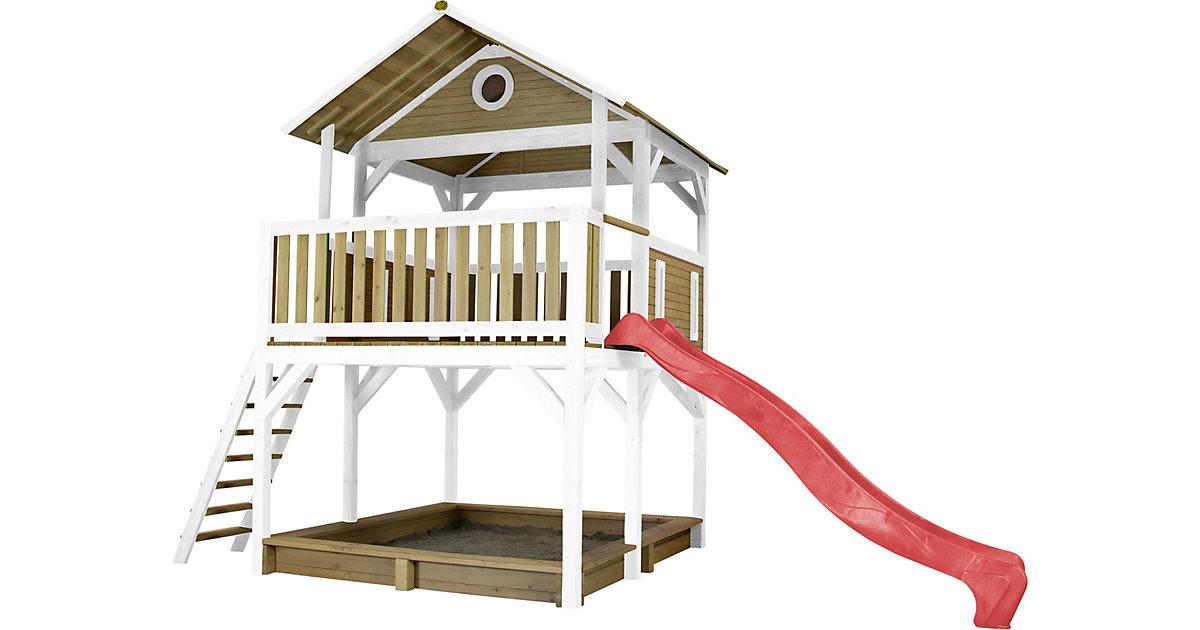 Simba Spielturm Braun/Weiß - Rote Rutsche braun/rot