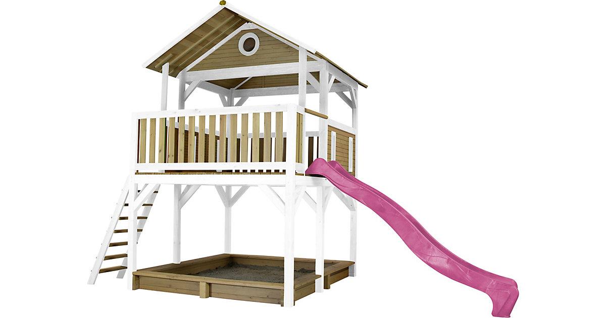 Simba Spielturm Braun/Weiß - Lila Rutsche braun/lila