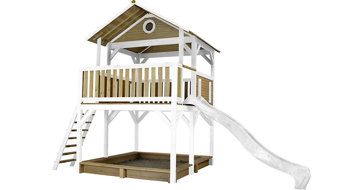 Simba Spielturm Braun/Weiß - Weiße Rutsche braun/weiß