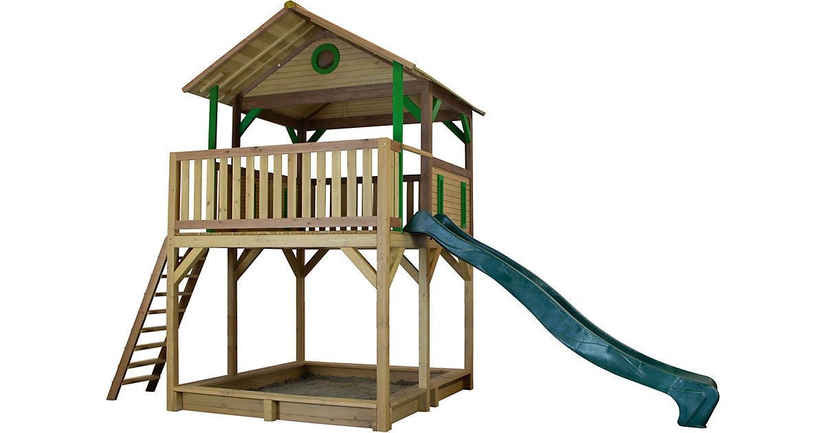 Woody Spielturm Braun/Grün - Grüne Rutsche braun/grün
