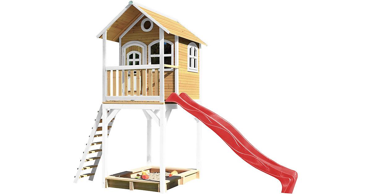 Romy Spielhaus Braun/Weiß - Rote Rutsche braun/rot | Kinderzimmer | Axi