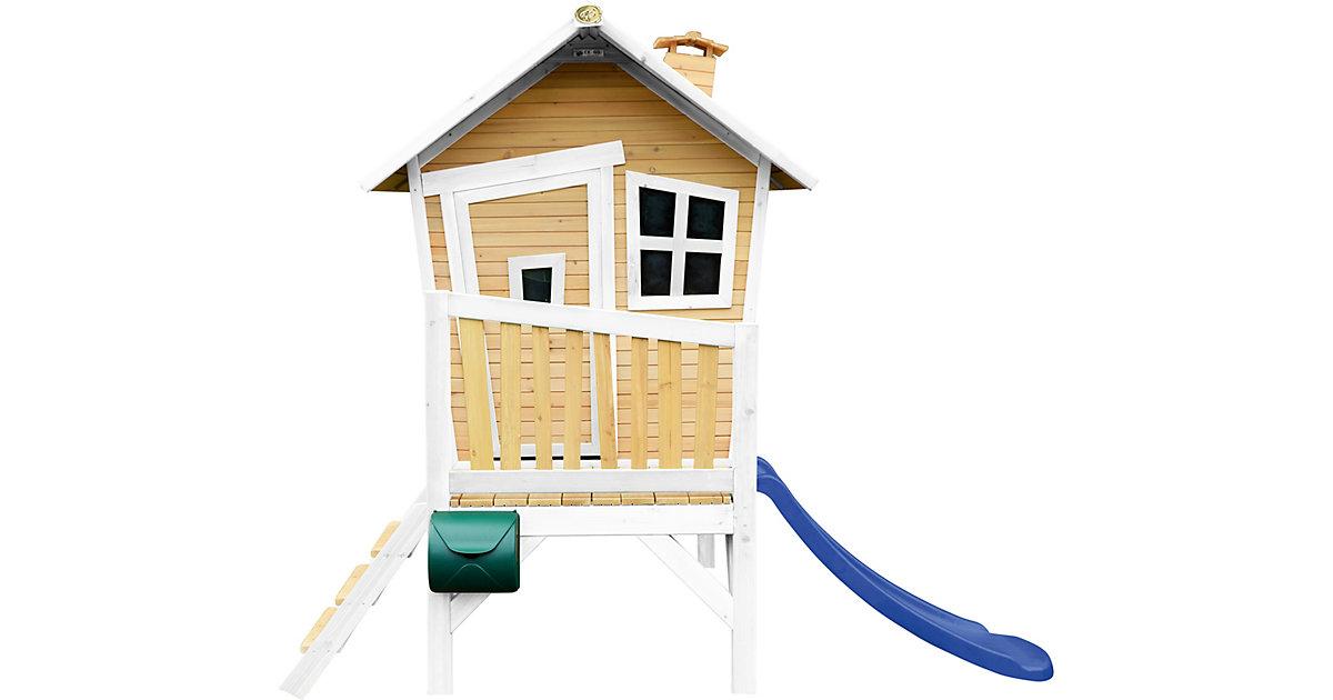 Robin Spielhaus Braun/Weiß - Blaue Rutsche braun/blau