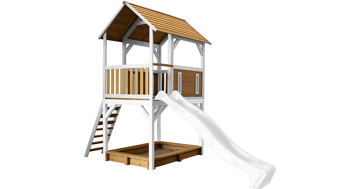 Pumba Spielturm Braun/Weiß - Weiße Rutsche braun/weiß
