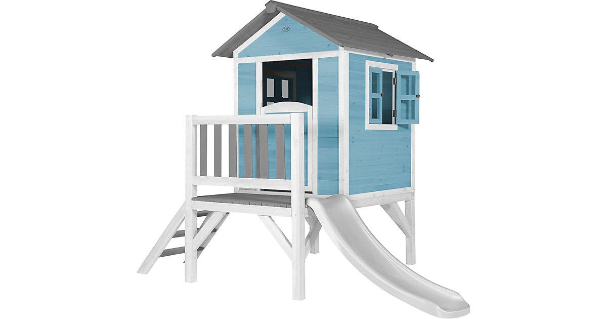 Lodge XL Spielhaus Karibisches Blau - Weiße Rutsche blau/weiß