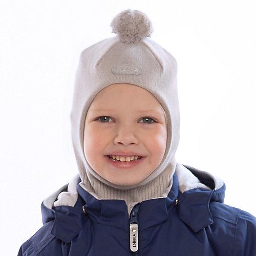 Шапка-шлем BJÖRKA - серый от BJÖRKA