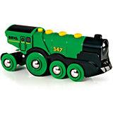 Локомотив BRIO со светом и звуком,  зеленый