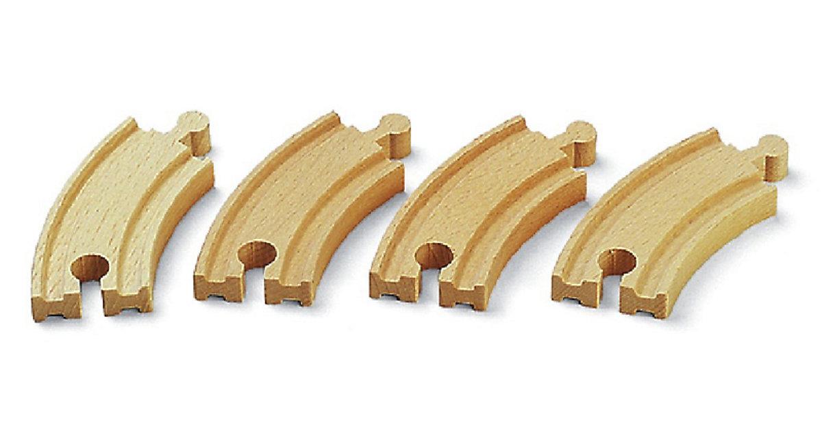 kurze gebogene Gleise - 4 Stück