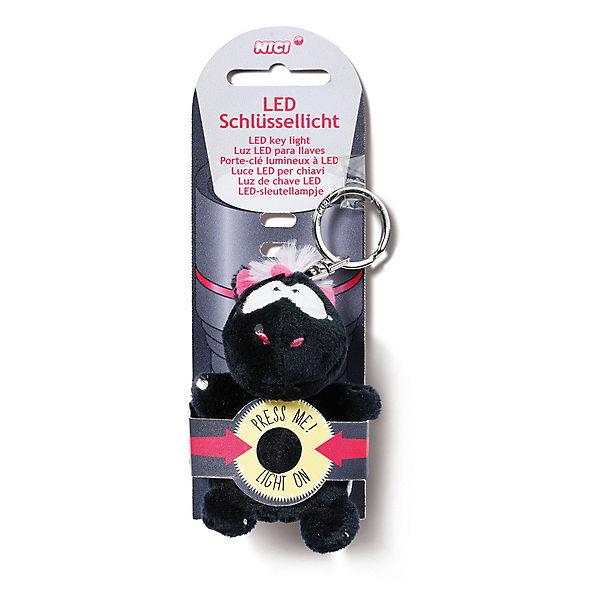 LED-Plüsch-Schlüssellicht Einhorn Carbon Flash (44761), NICI gfEfnB
