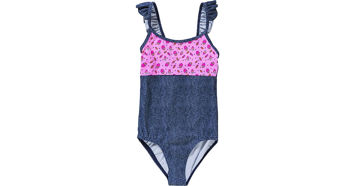 Kinder Badeanzug blue denim Gr. 98 Mädchen Kleinkinder